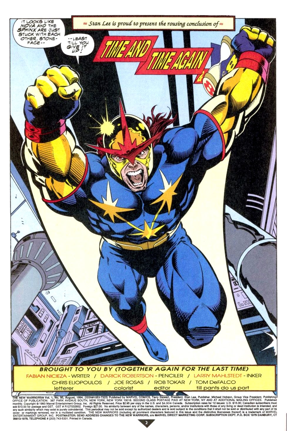 The New Warriors Issue #50 #54 - English 3