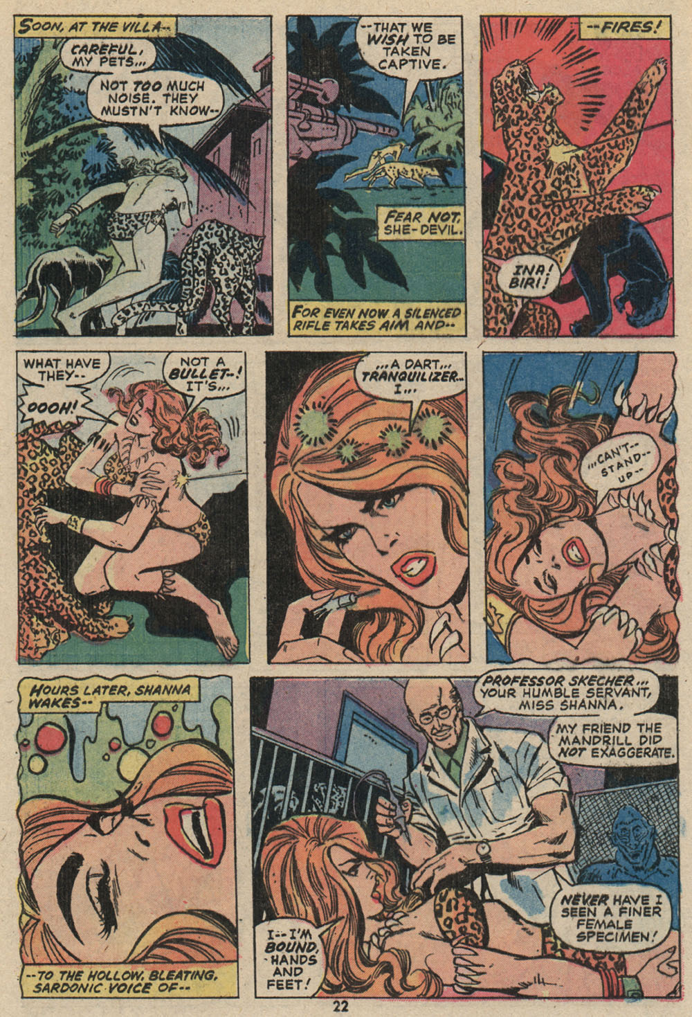 Read online Shanna, the She-Devil (1972) comic -  Issue #4 - 17
