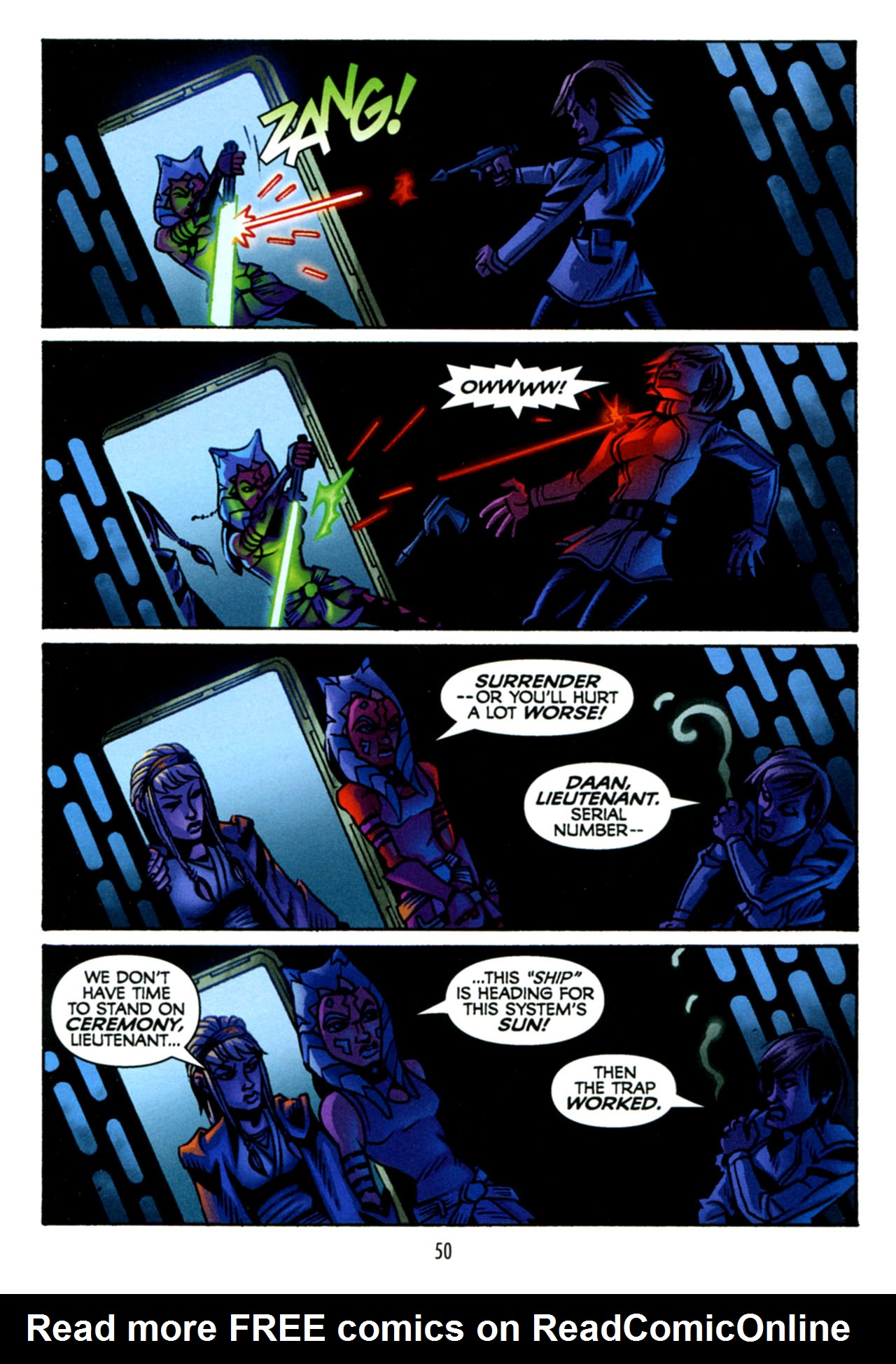 Read online Star Wars: The Clone Wars - The Starcrusher Trap comic -  Issue # Full - 51