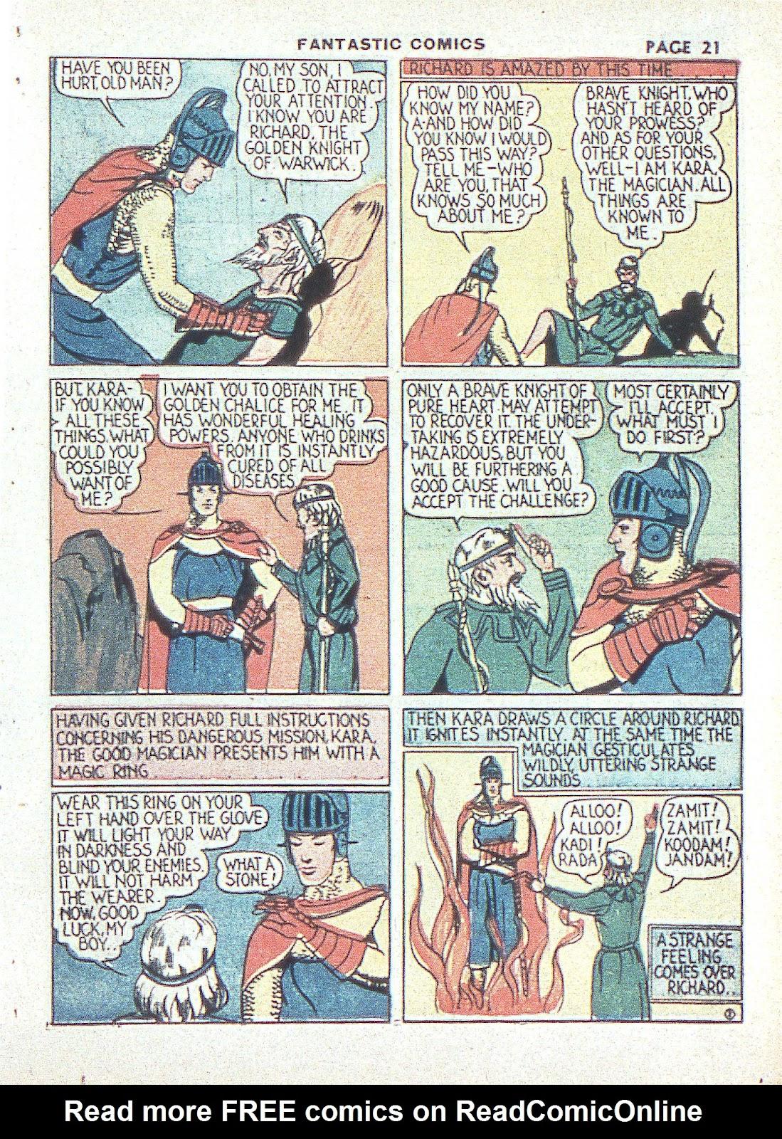 Read online Fantastic Comics comic -  Issue #3 - 24