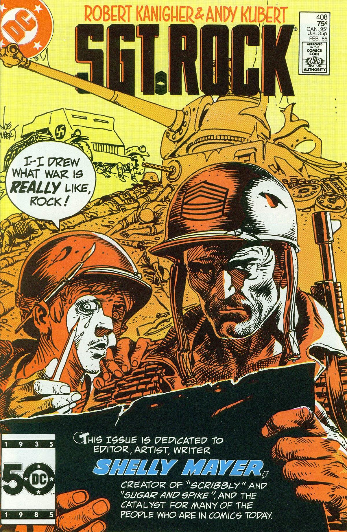 Read online Sgt. Rock comic -  Issue #408 - 1