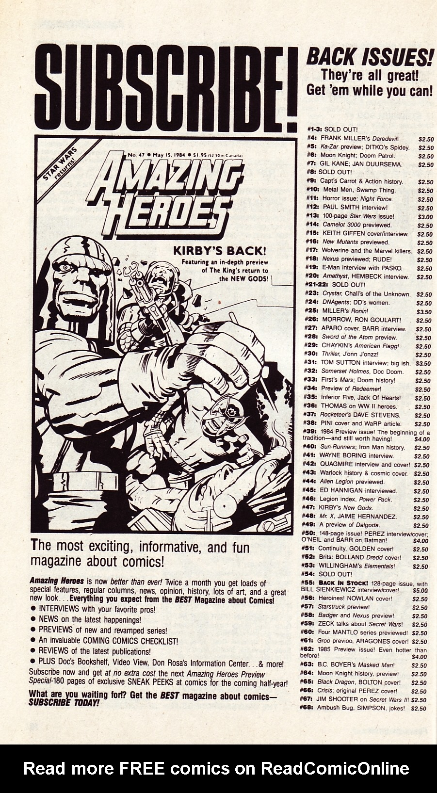 Read online Amazing Heroes comic -  Issue #134 - 20