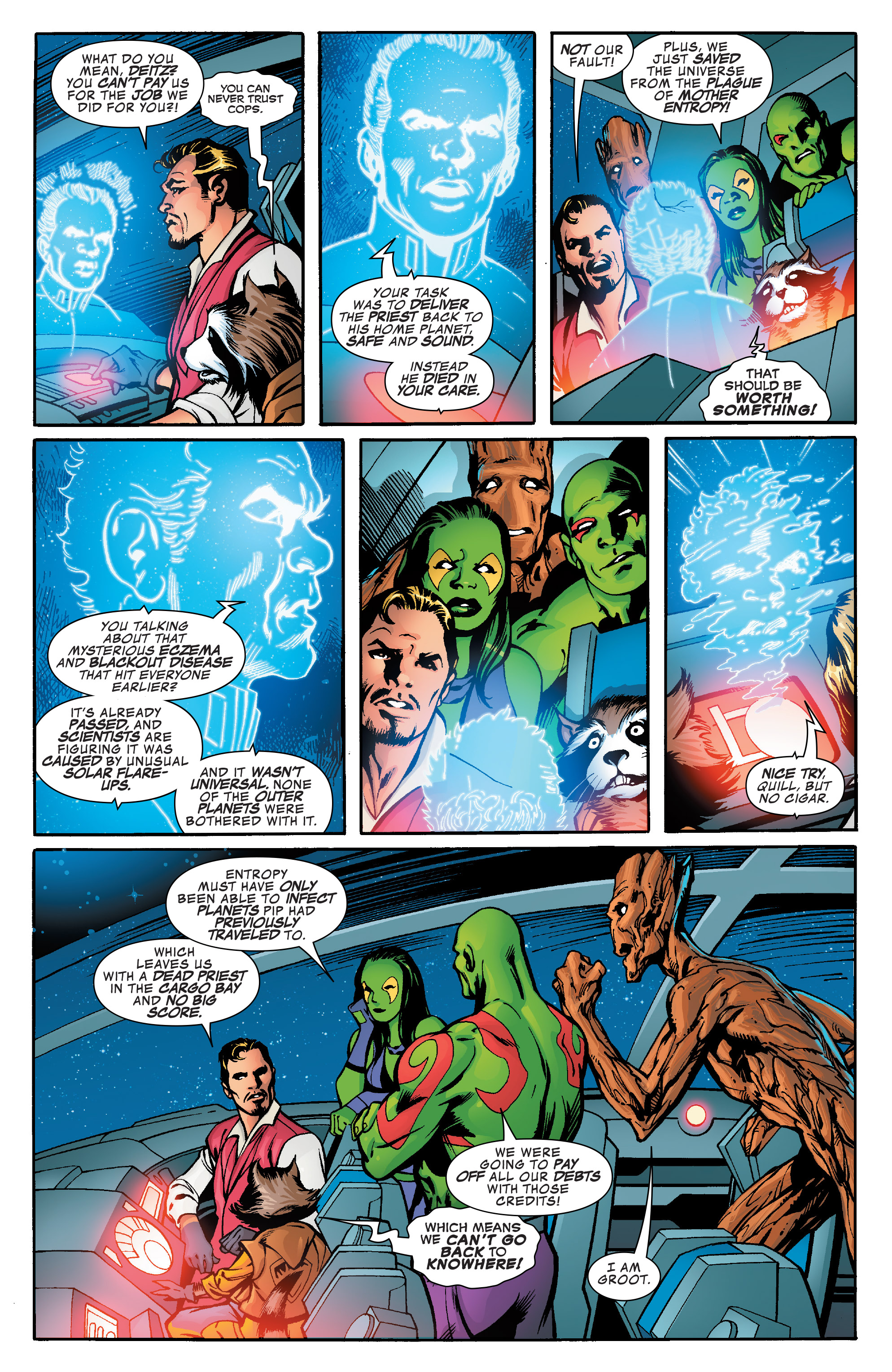 Read online Guardians of the Galaxy: Mother Entropy comic -  Issue #5 - 18