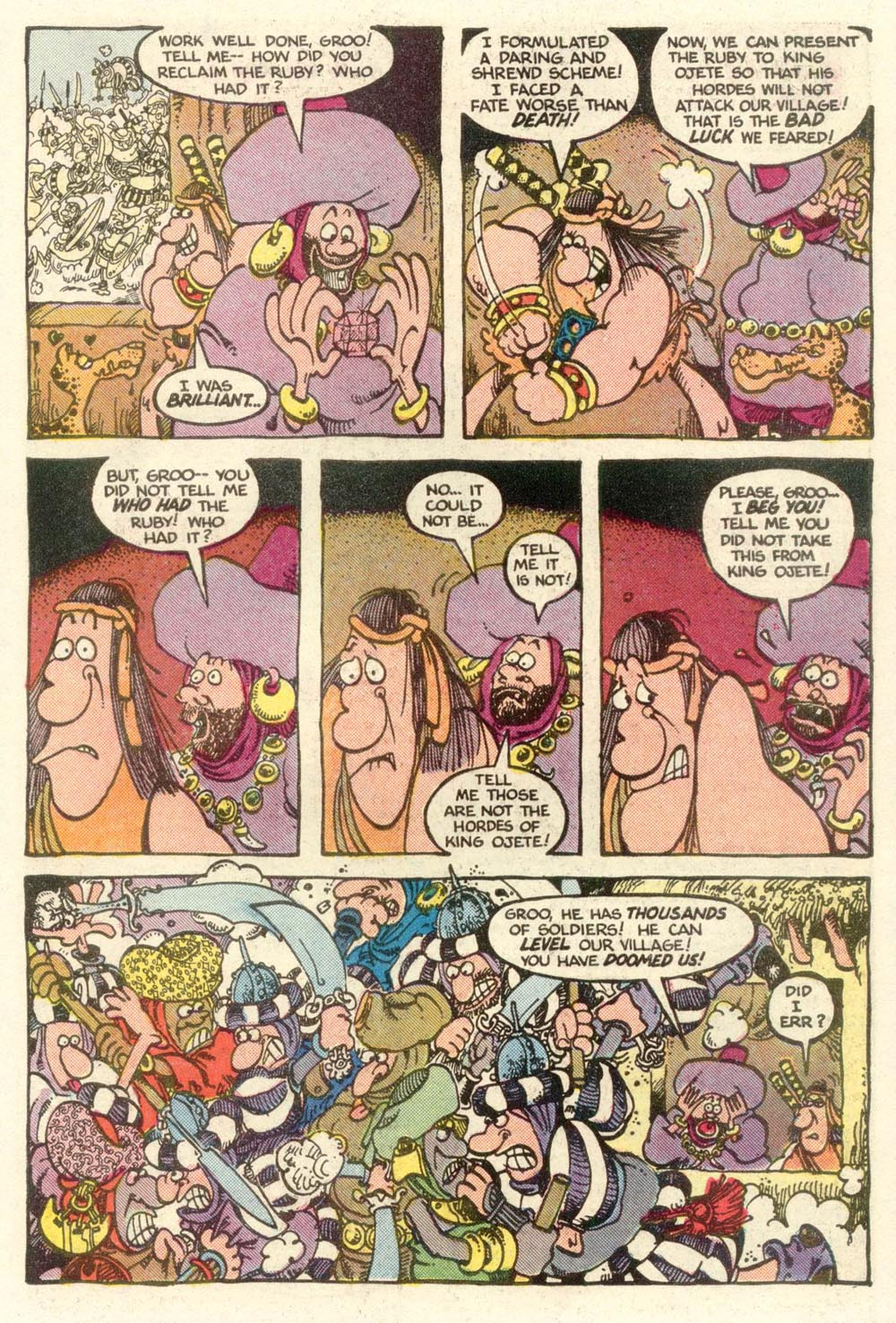 Read online Sergio Aragonés Groo the Wanderer comic -  Issue #6 - 22