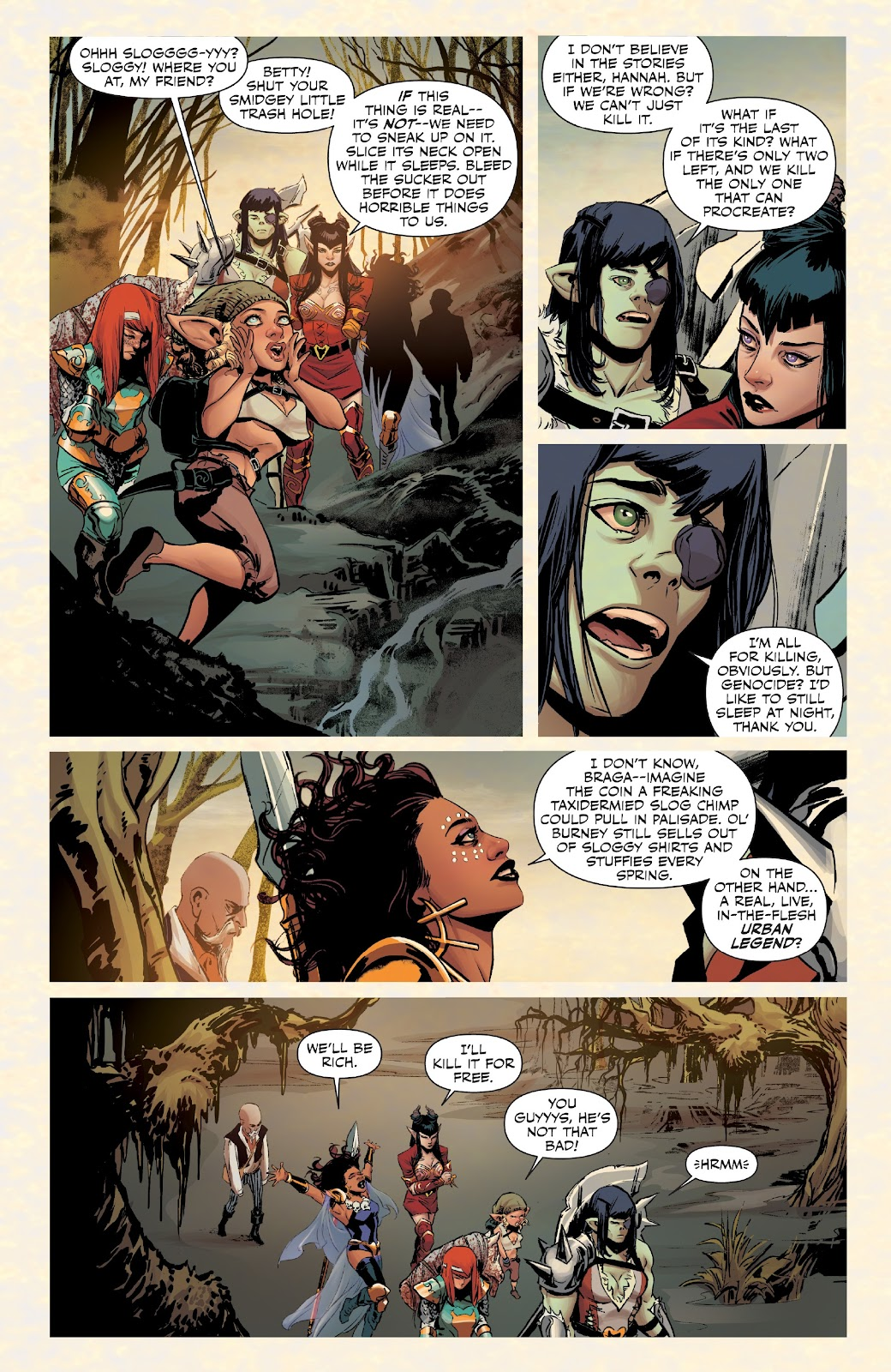 Read online Rat Queens Special: Swamp Romp comic -  Issue # Full - 7