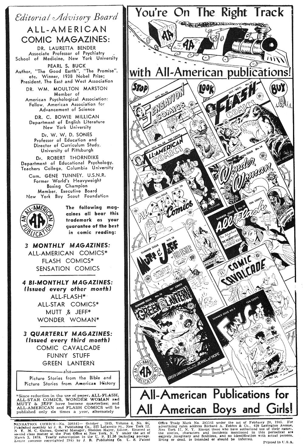 Read online Sensation (Mystery) Comics comic -  Issue #46 - 2