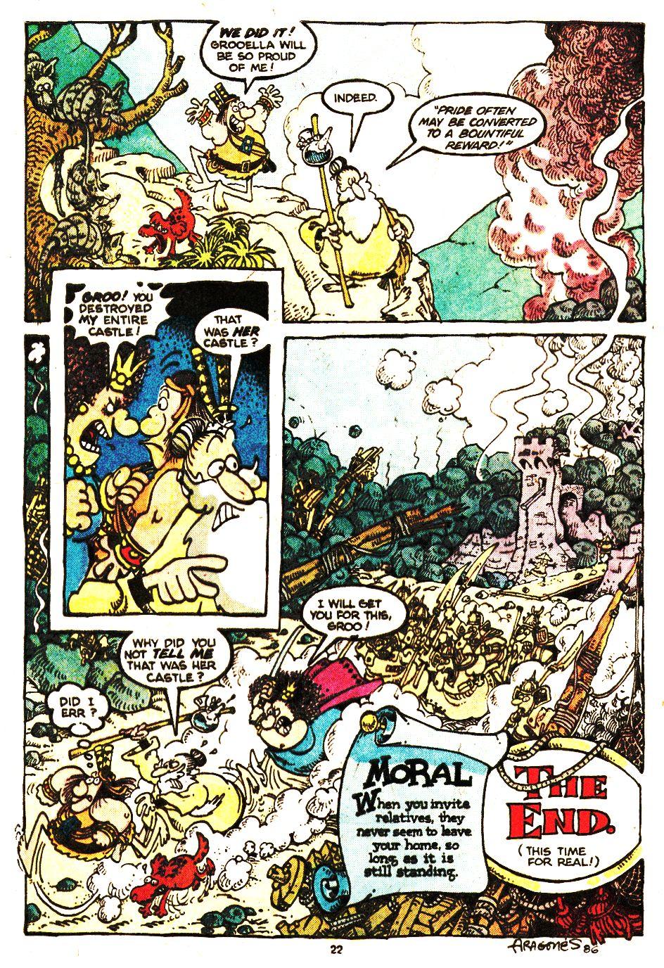 Read online Sergio Aragonés Groo the Wanderer comic -  Issue #20 - 22