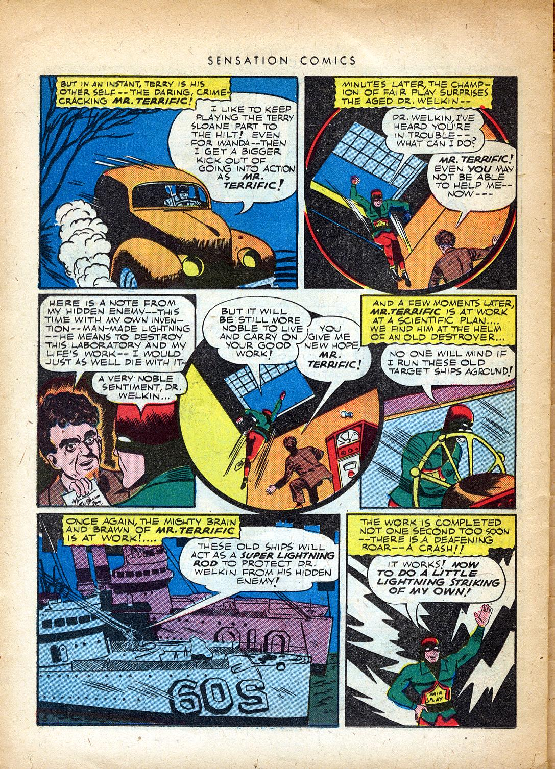 Read online Sensation (Mystery) Comics comic -  Issue #37 - 38