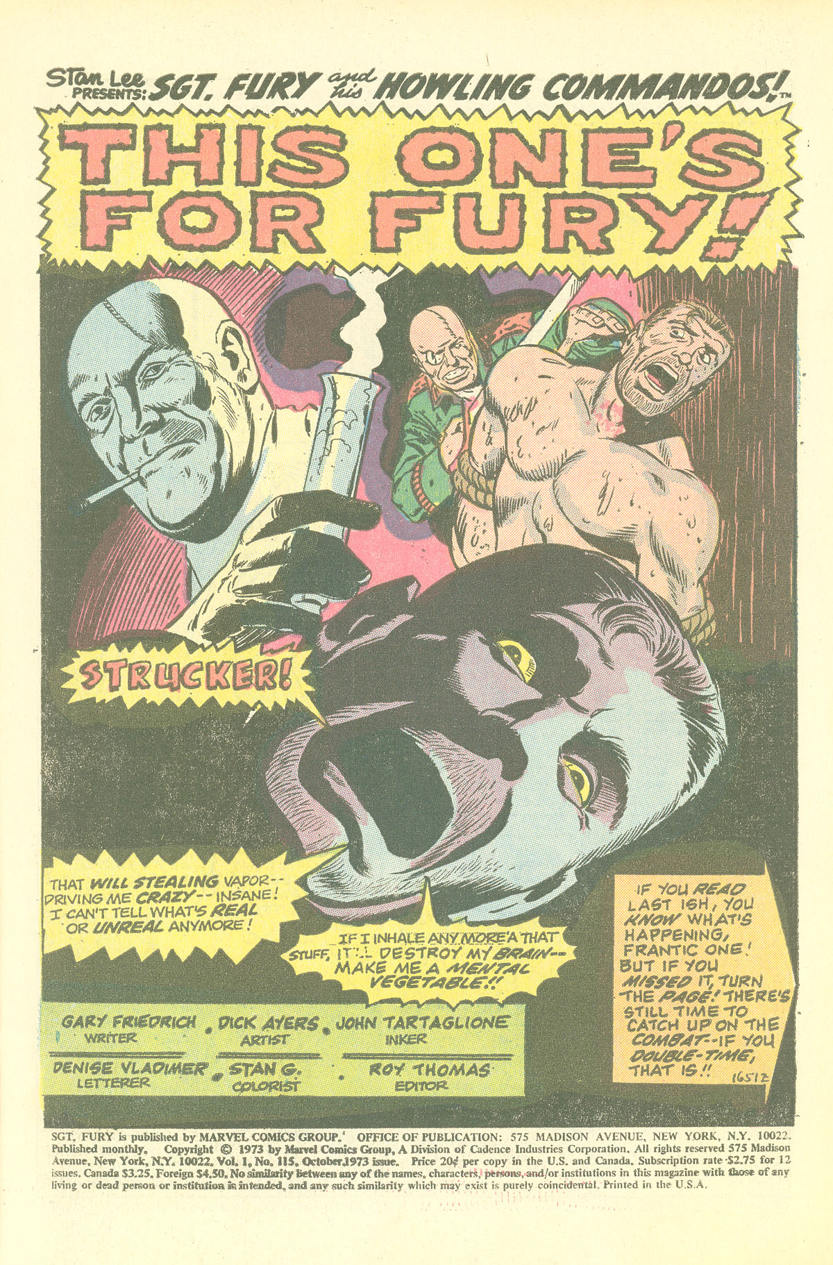Read online Sgt. Fury comic -  Issue #115 - 3