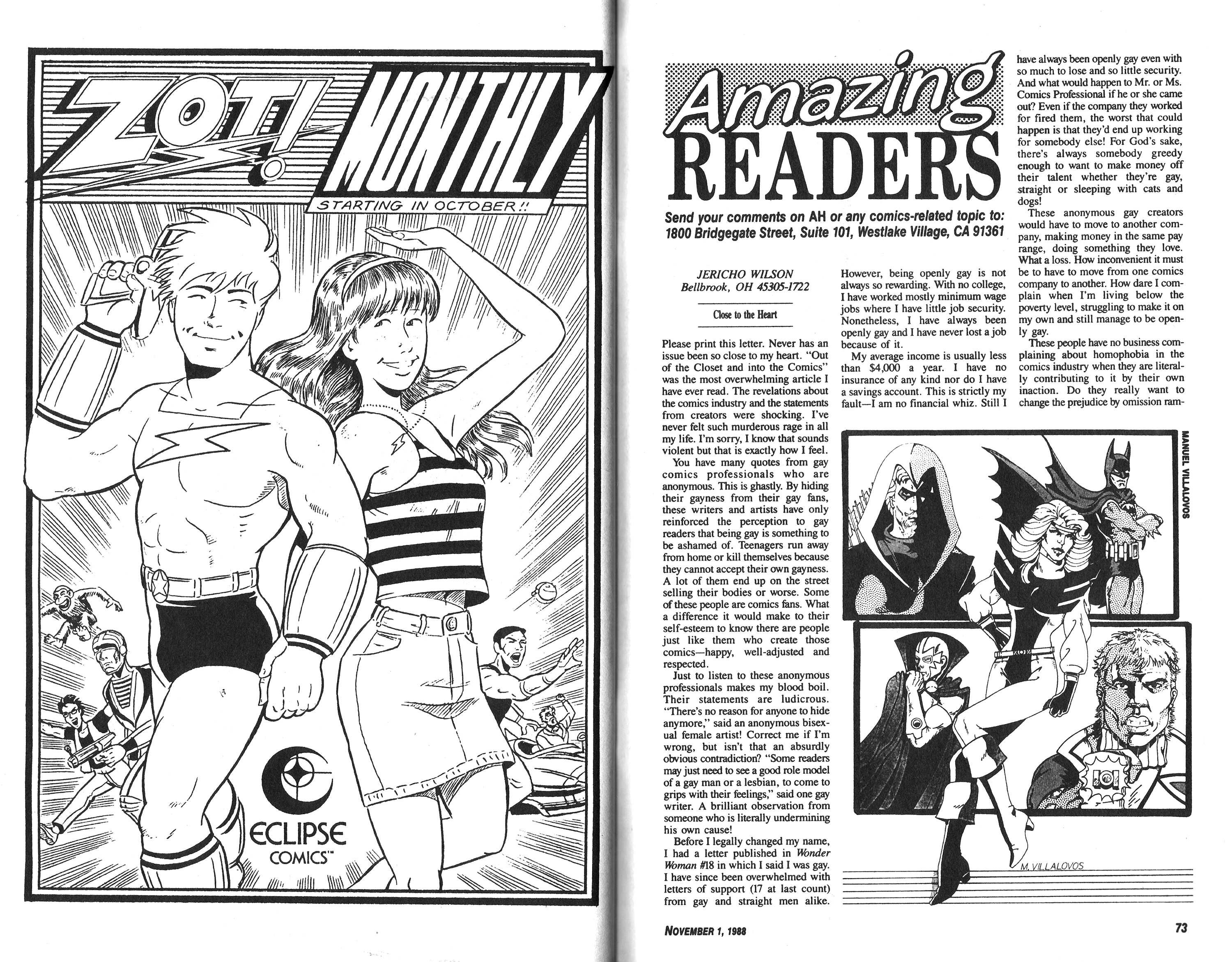 Read online Amazing Heroes comic -  Issue #152 - 45