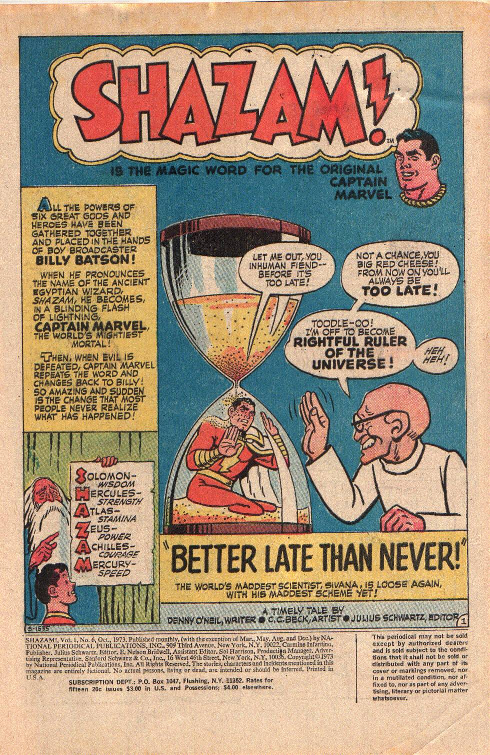 Read online Shazam! (1973) comic -  Issue #6 - 3
