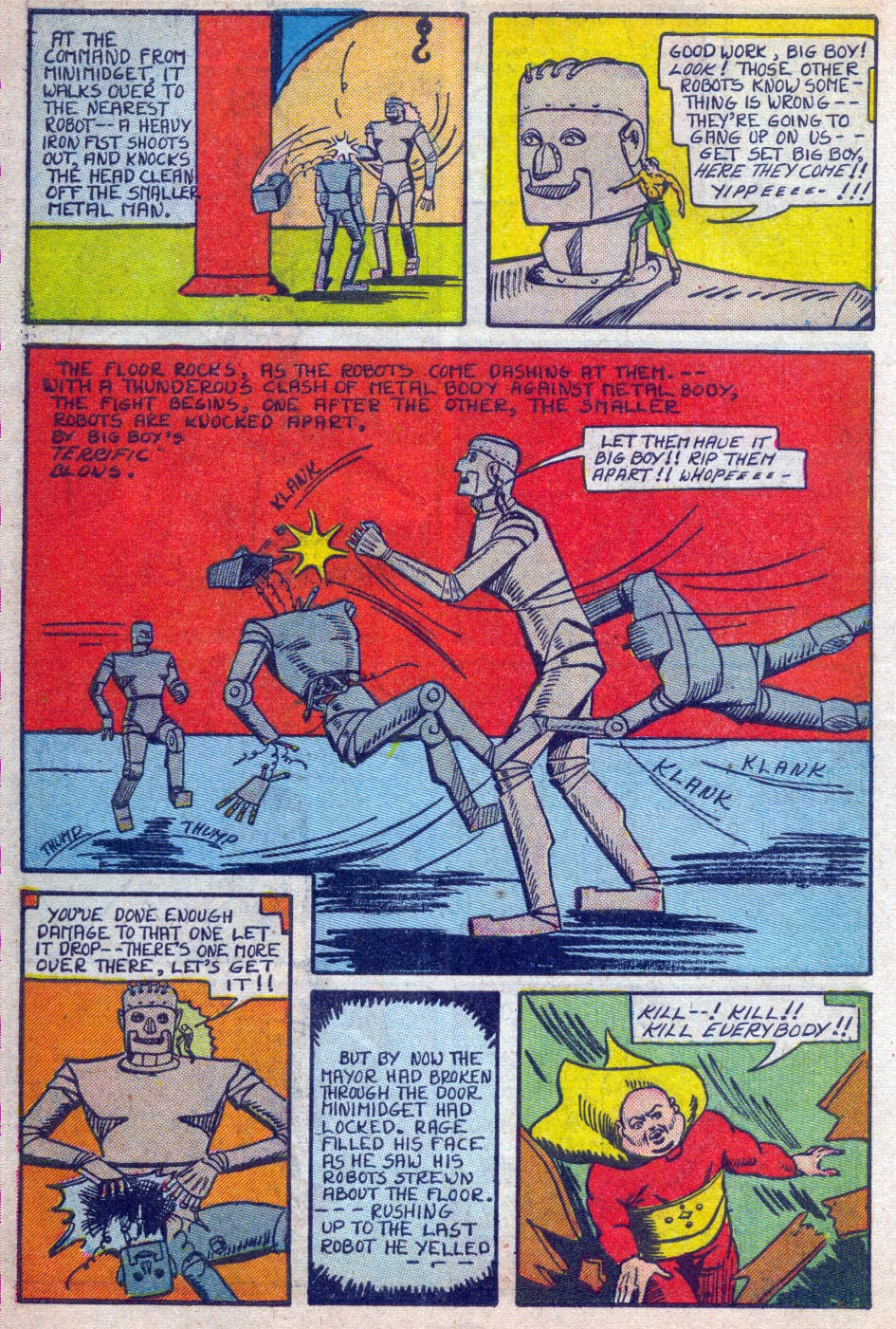 Read online Amazing Man Comics comic -  Issue #15 - 17