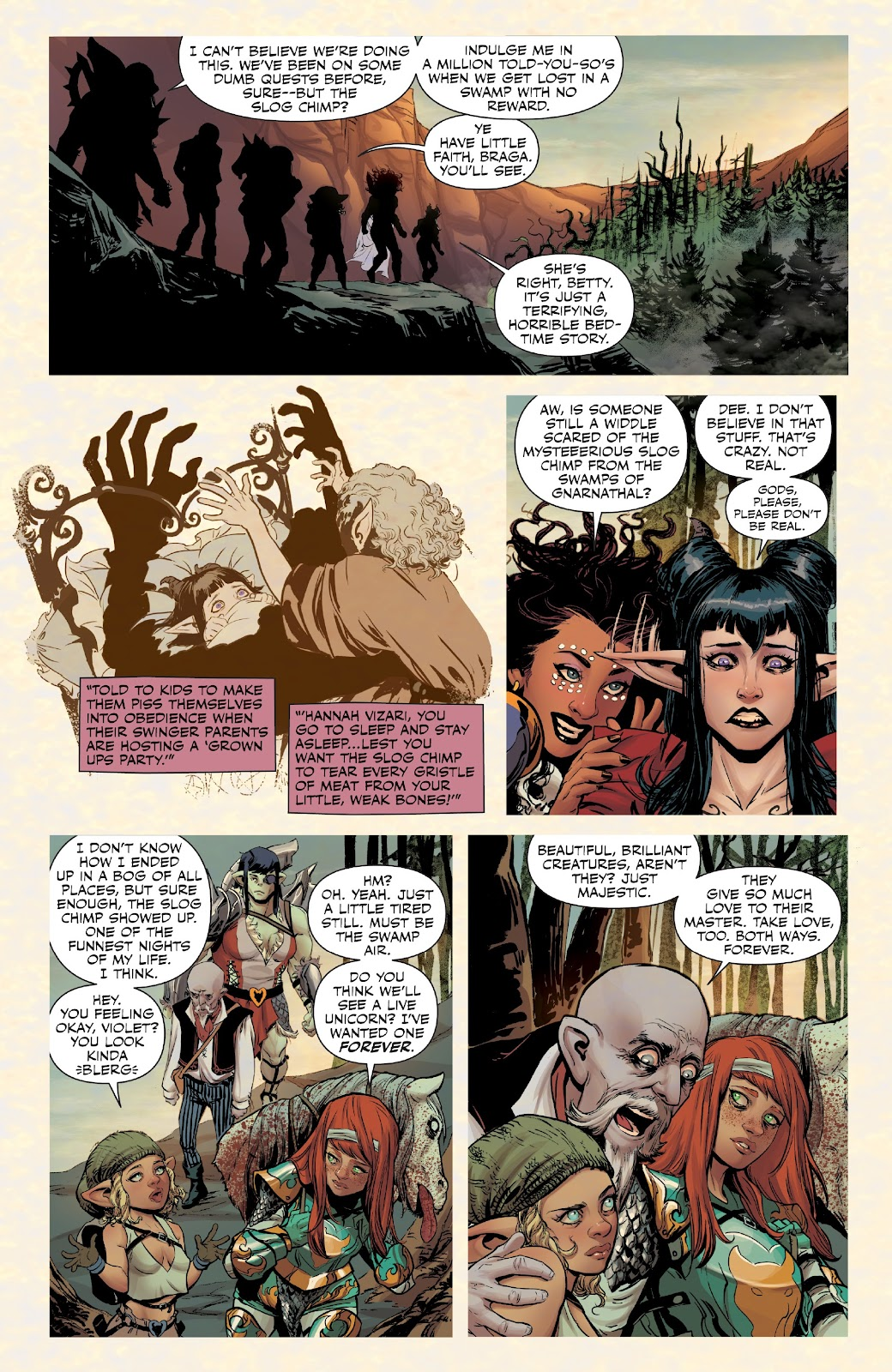 Read online Rat Queens Special: Swamp Romp comic -  Issue # Full - 6