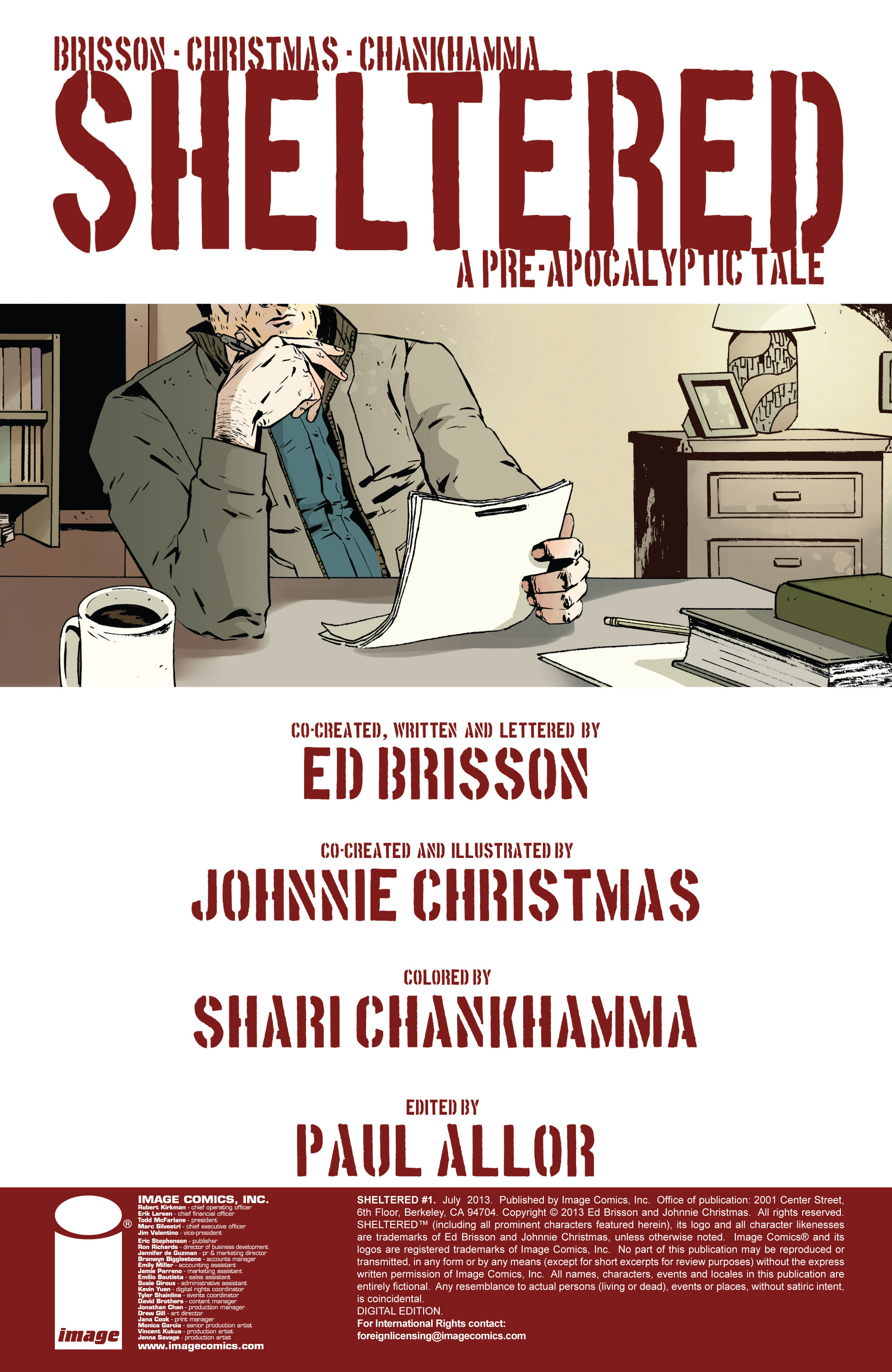 Read online Sheltered comic -  Issue #1 - 2