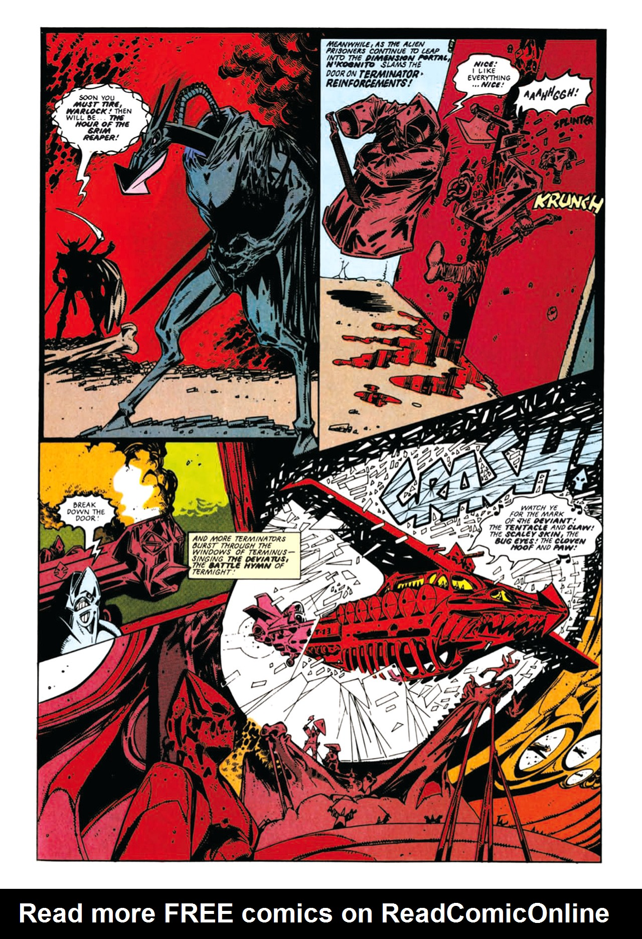 Read online Nemesis The Warlock comic -  Issue # TPB Deviant Edition - 82
