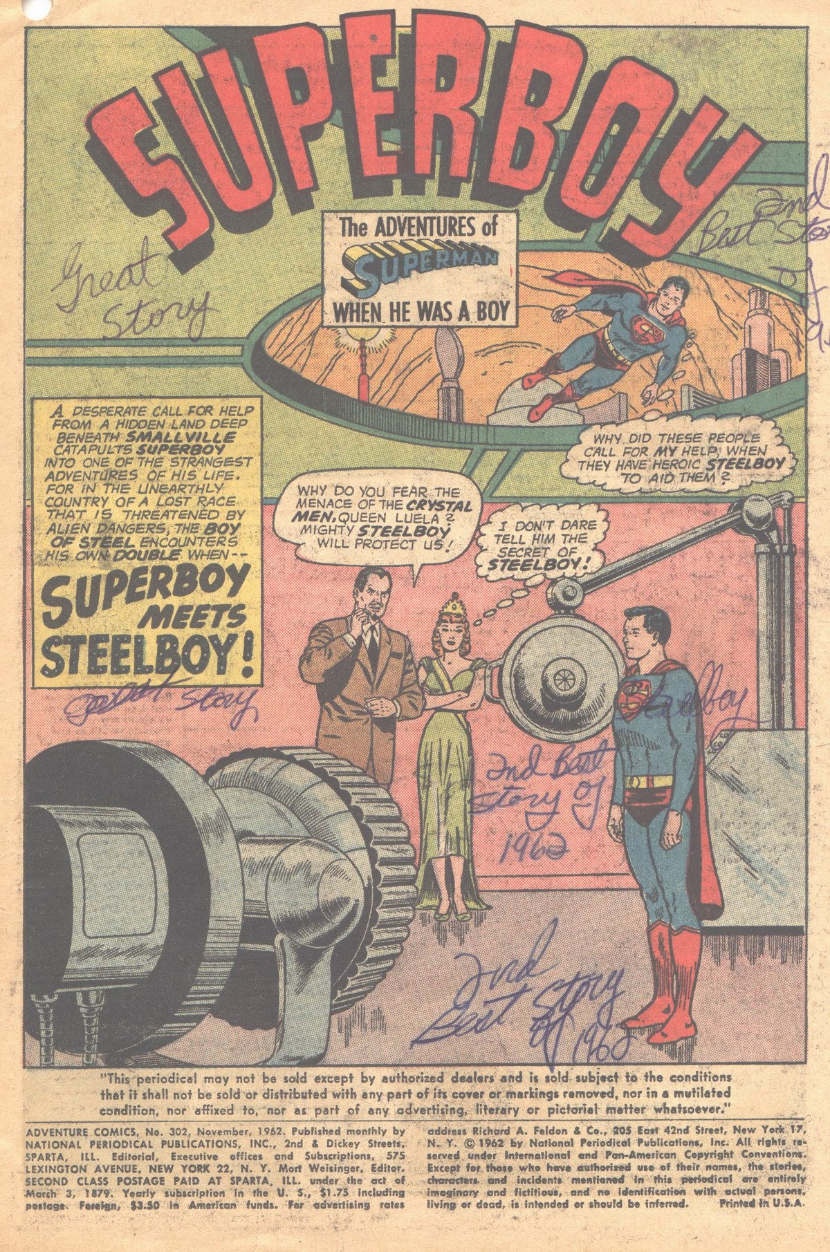 Read online Adventure Comics (1938) comic -  Issue #302 - 4