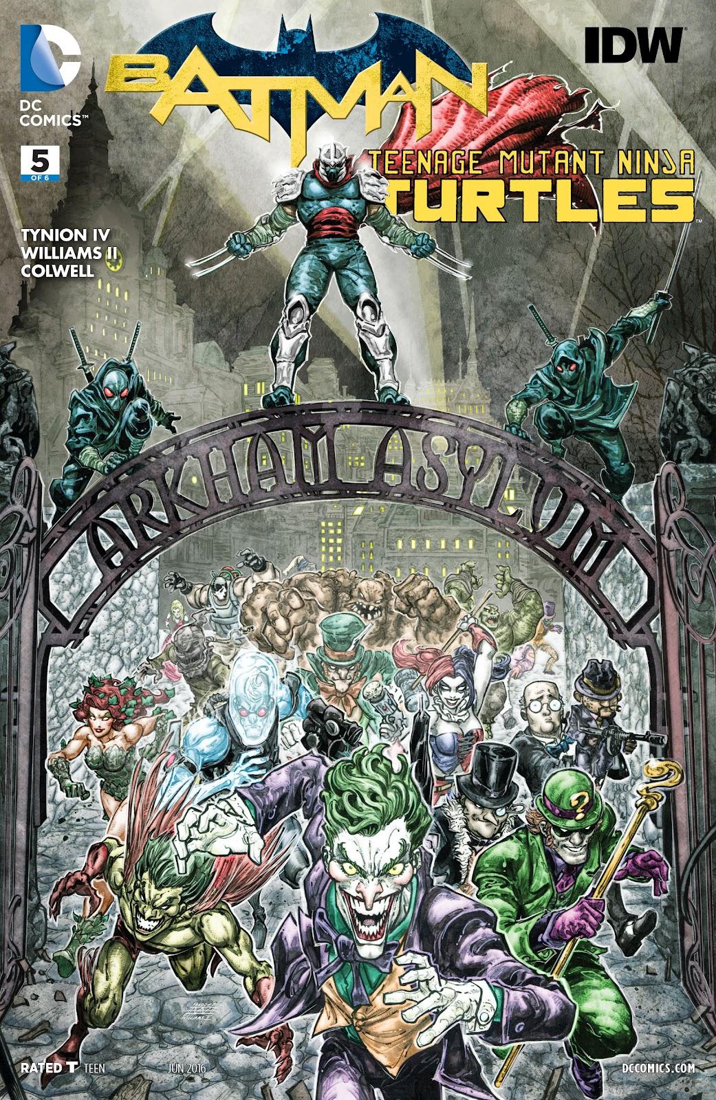 Batman/Teenage Mutant Ninja Turtles 5 Page 1
