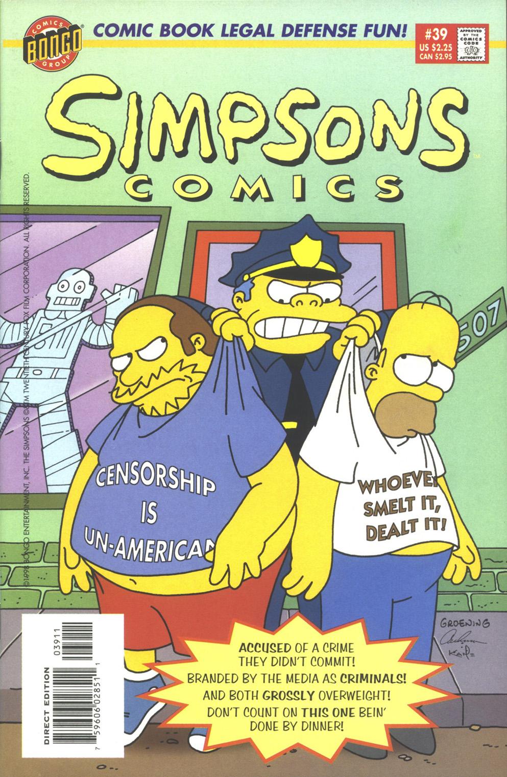Read online Simpsons Comics comic -  Issue #39 - 1
