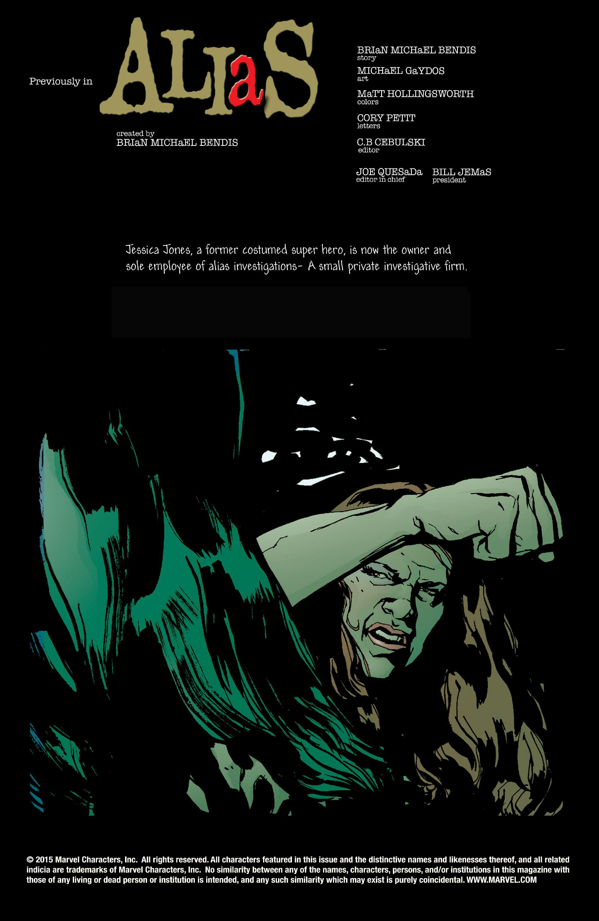 Read online Alias comic -  Issue #20 - 2