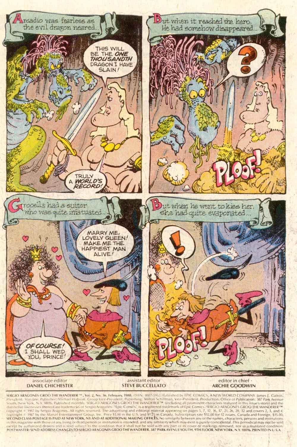 Read online Sergio Aragonés Groo the Wanderer comic -  Issue #36 - 2