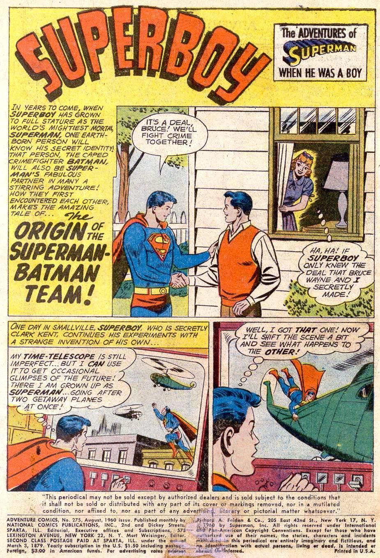 Read online Adventure Comics (1938) comic -  Issue #275 - 3