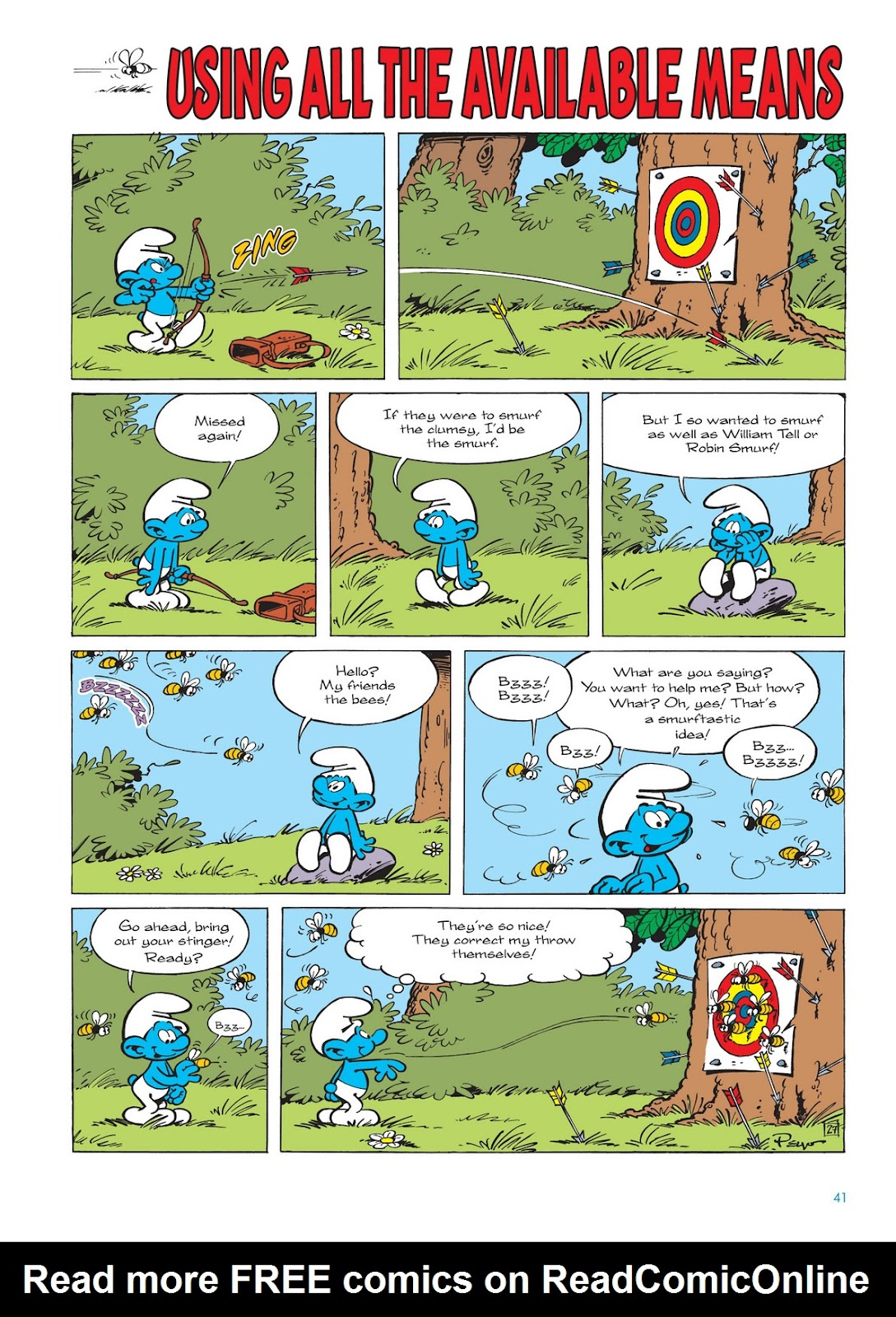 Read online The Smurfs comic -  Issue #11 - 41