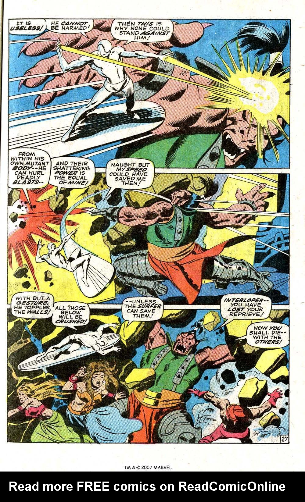 Read online Silver Surfer (1968) comic -  Issue #6 - 33