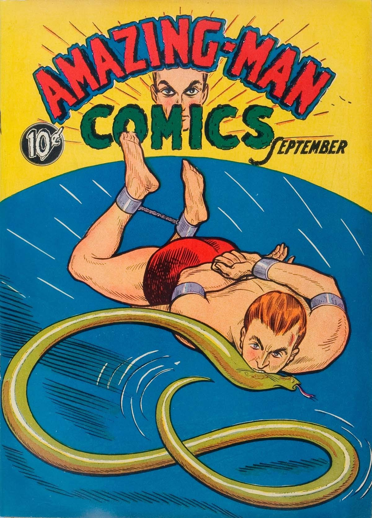 Read online Amazing Man Comics comic -  Issue #5 - 1