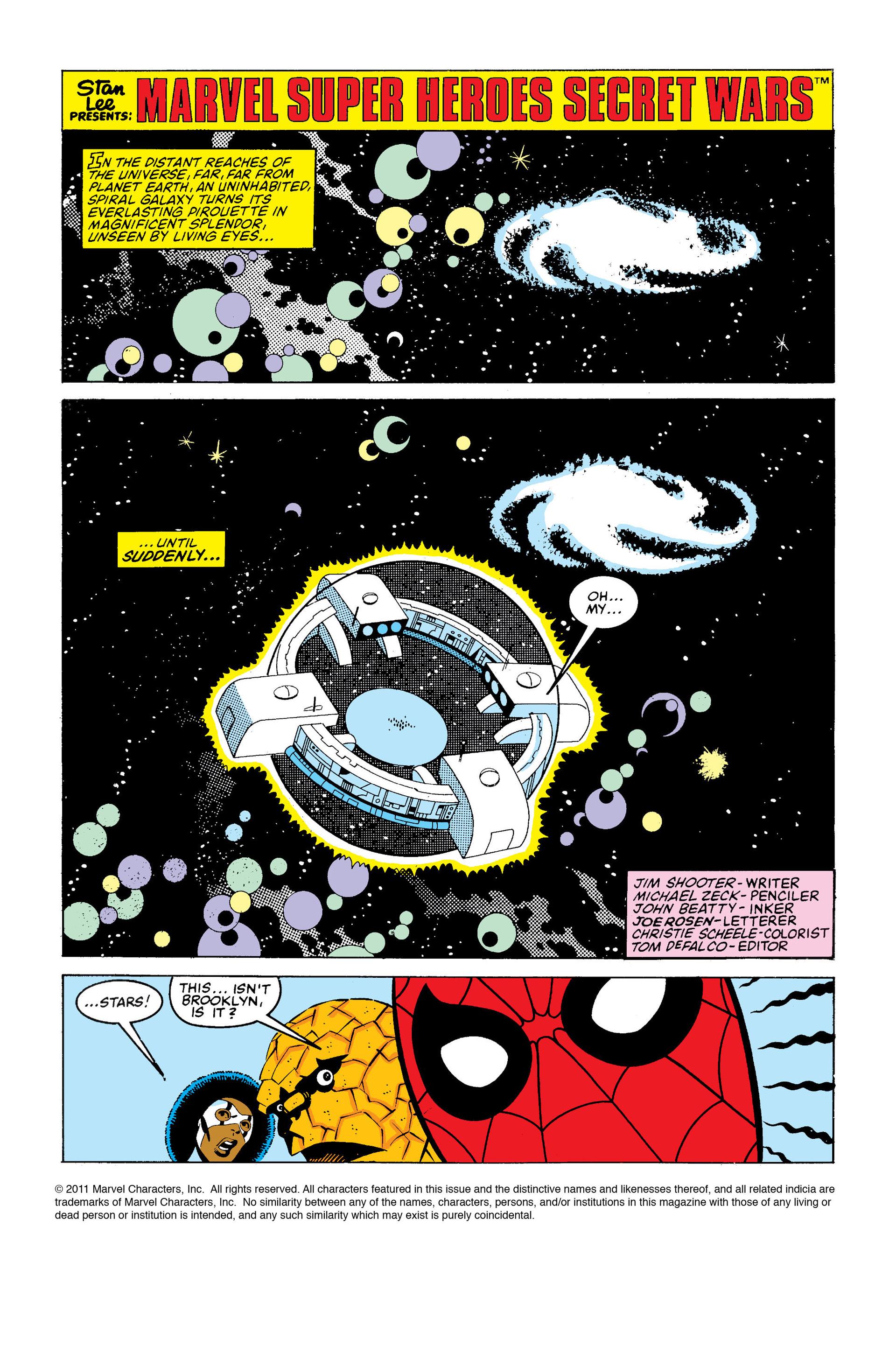 Read online Secret Wars (1985) comic -  Issue #1 - 2