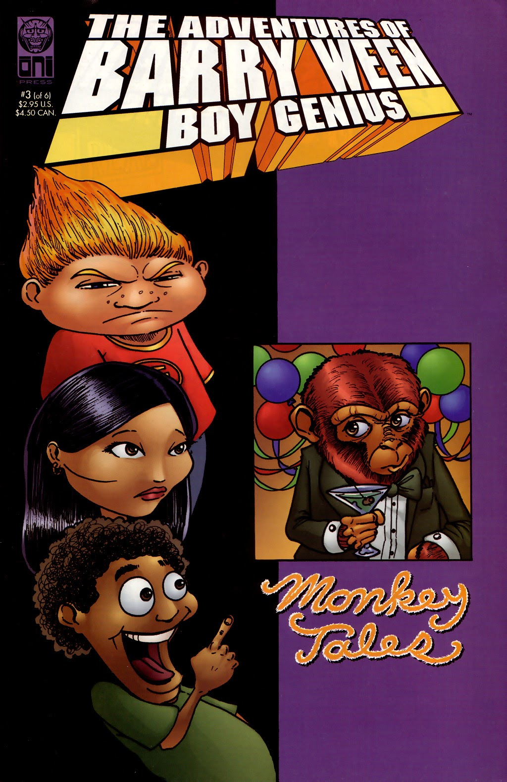 The Adventures of Barry Ween, Boy Genius 3: Monkey Tales 3 Page 1