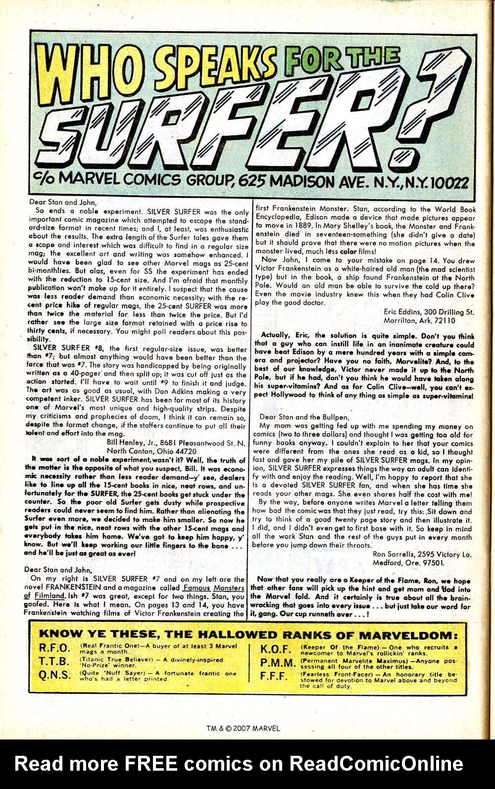 Read online Silver Surfer (1968) comic -  Issue #12 - 32