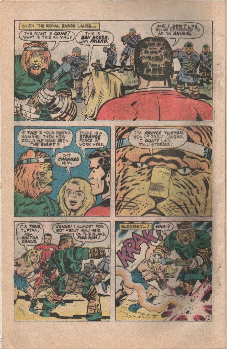 Kamandi, The Last Boy On Earth issue 32 - Page 4