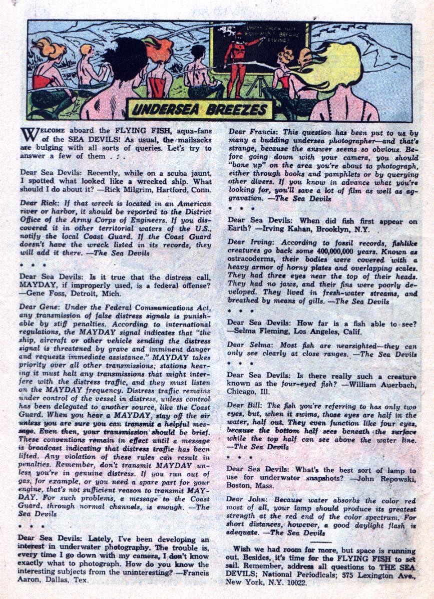 Read online Sea Devils comic -  Issue #24 - 27