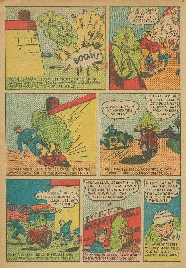 Read online Amazing Man Comics comic -  Issue #9 - 13