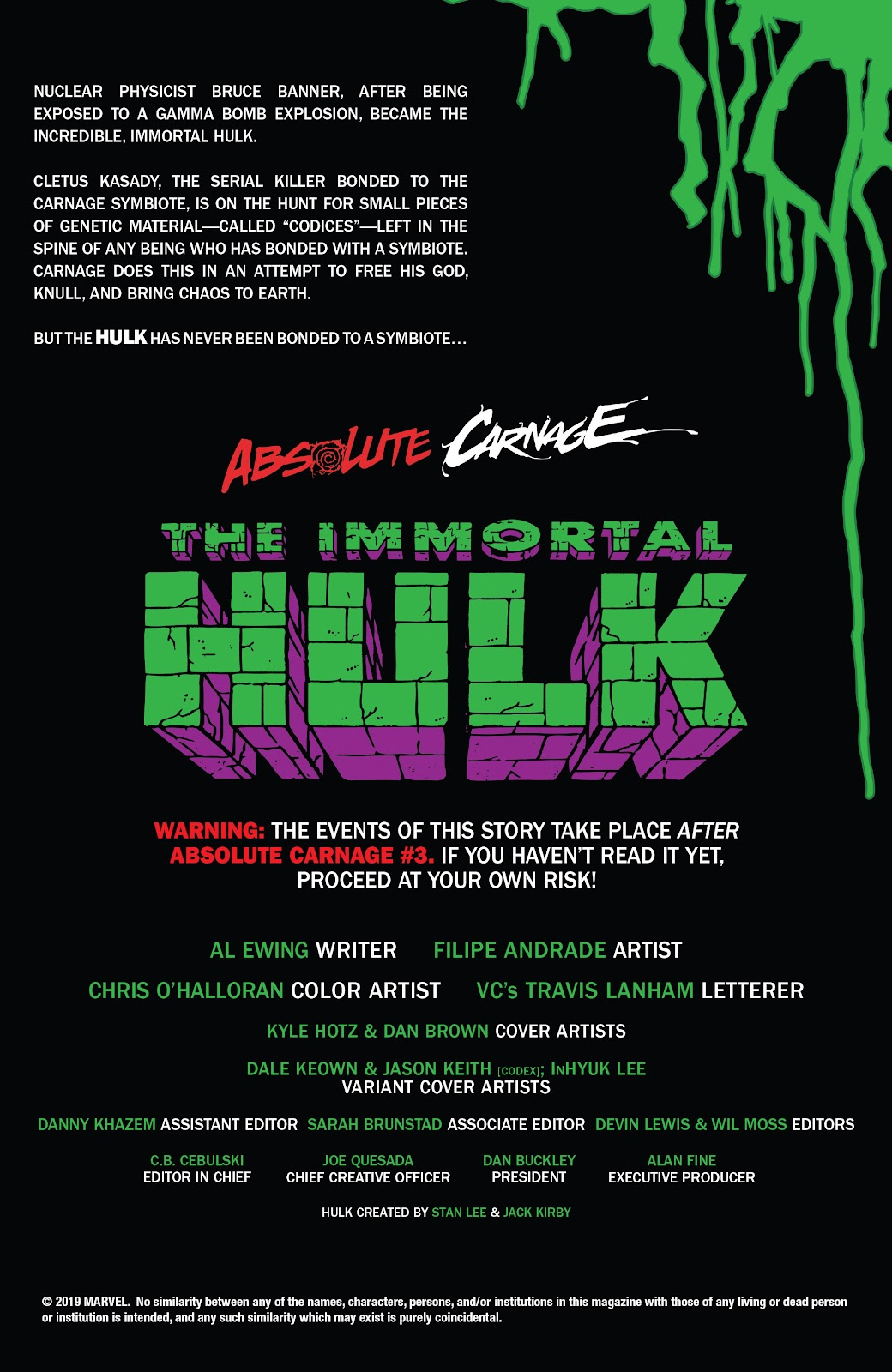 Read online Absolute Carnage: Immortal Hulk comic -  Issue # Full - 2