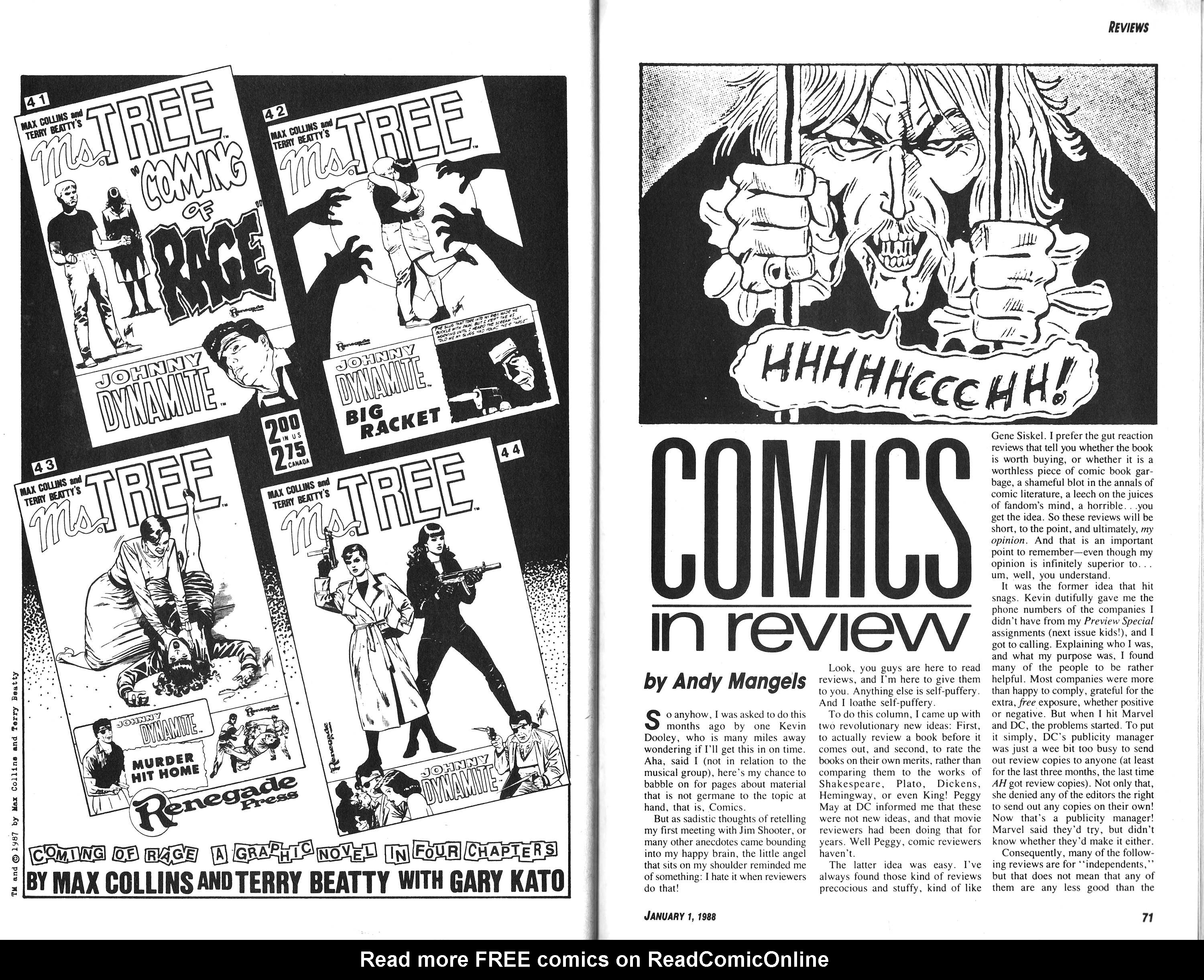 Read online Amazing Heroes comic -  Issue #132 - 36