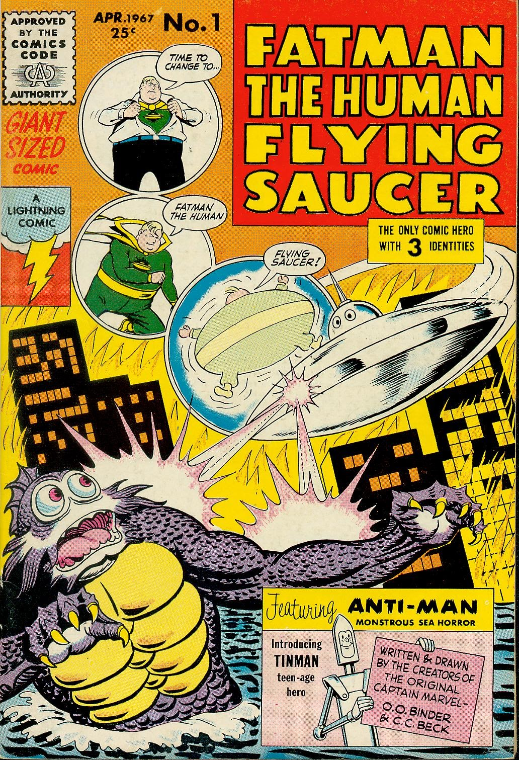 Fatman, The Human Flying Saucer issue 1 - Page 1