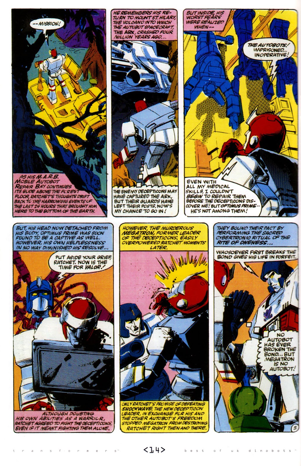 Read online The Transformers: Best of UK: Dinobots comic -  Issue #6 - 17