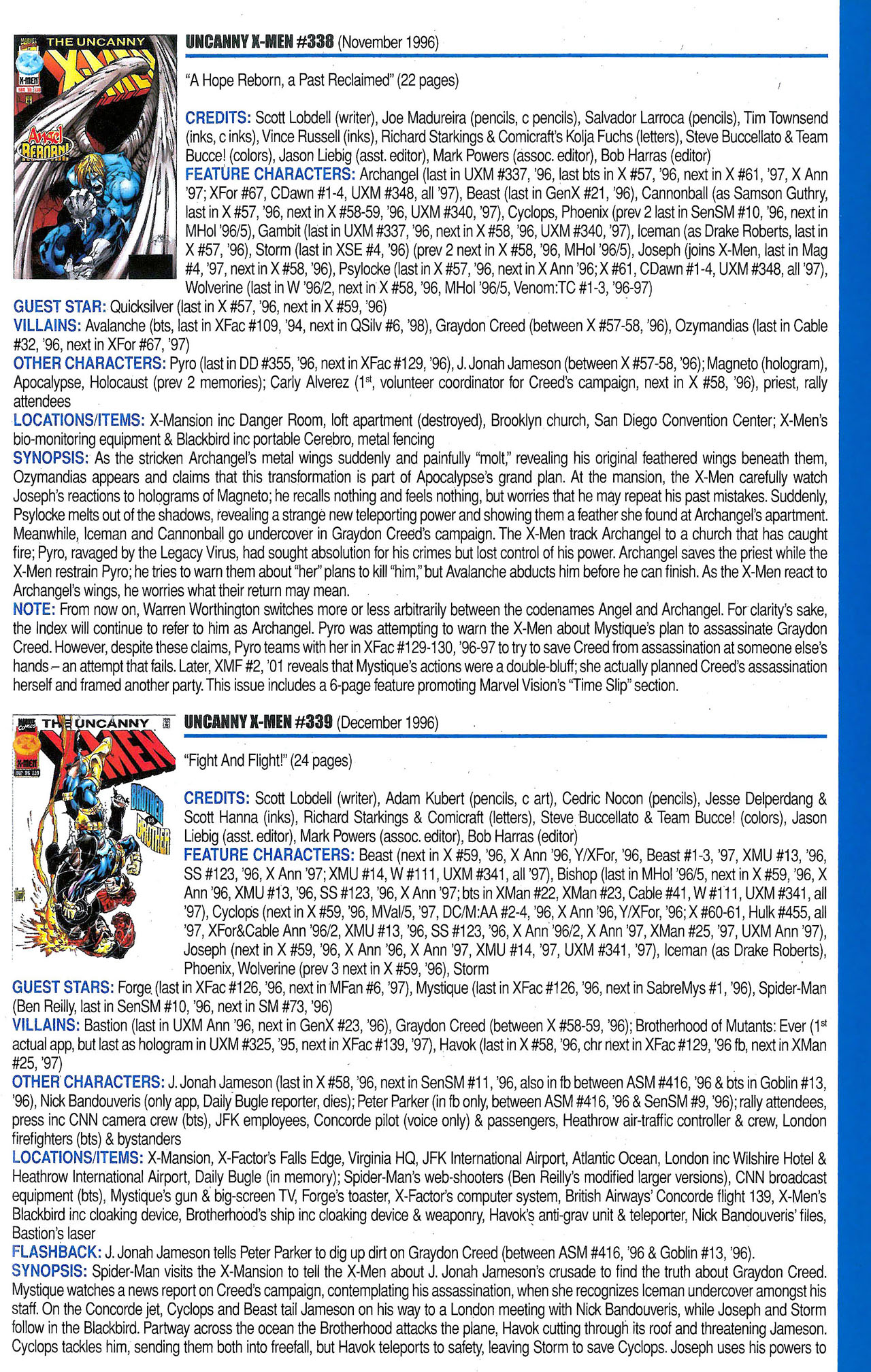 Read online Official Index to the Marvel Universe comic -  Issue #9 - 45