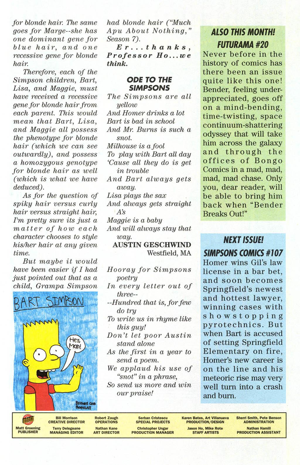 Read online Simpsons Comics comic -  Issue #106 - 30