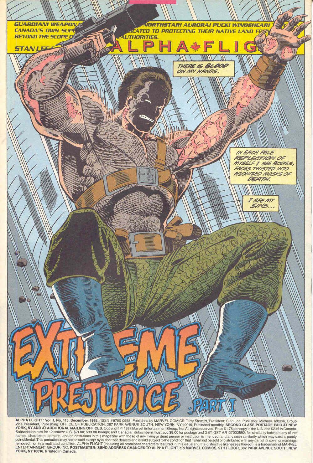 Read online Alpha Flight (1983) comic -  Issue #115 - 2