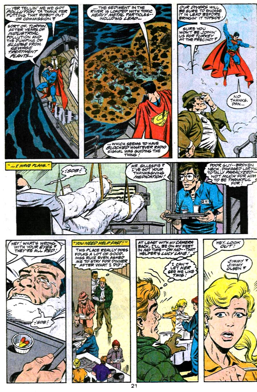 Read online Adventures of Superman (1987) comic -  Issue #486 - 22