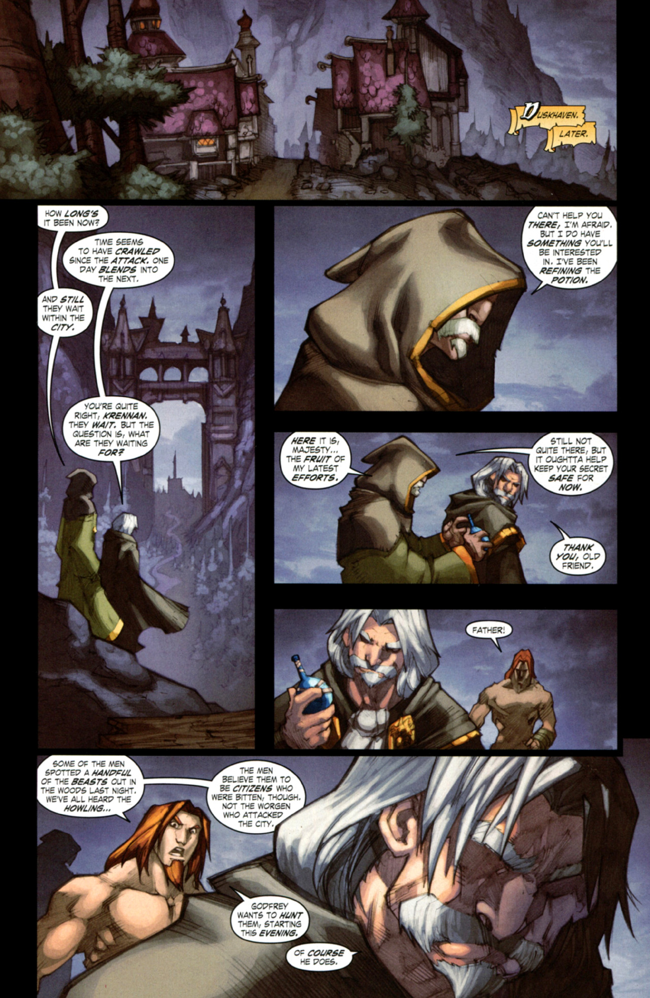 Read online World of Warcraft: Curse of the Worgen comic -  Issue #4 - 27