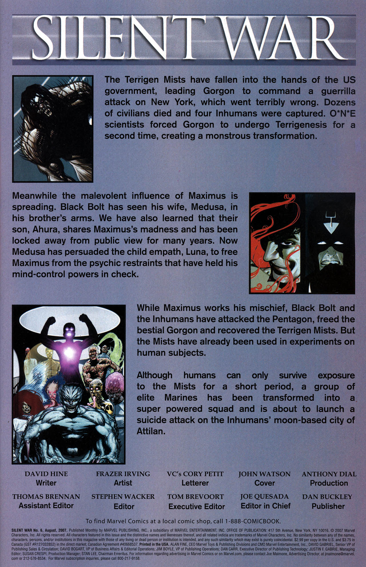 Read online Silent War comic -  Issue #6 - 2