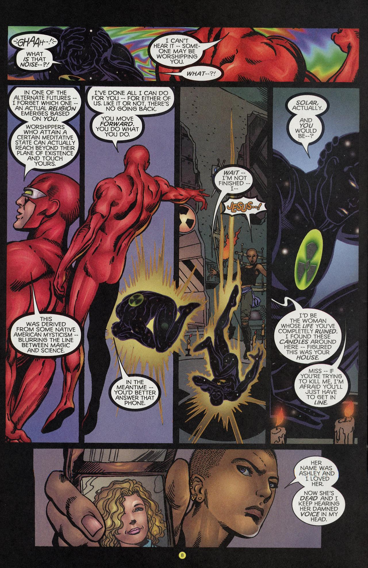 Read online Solar, Man of the Atom: Hell on Earth comic -  Issue #4 - 8