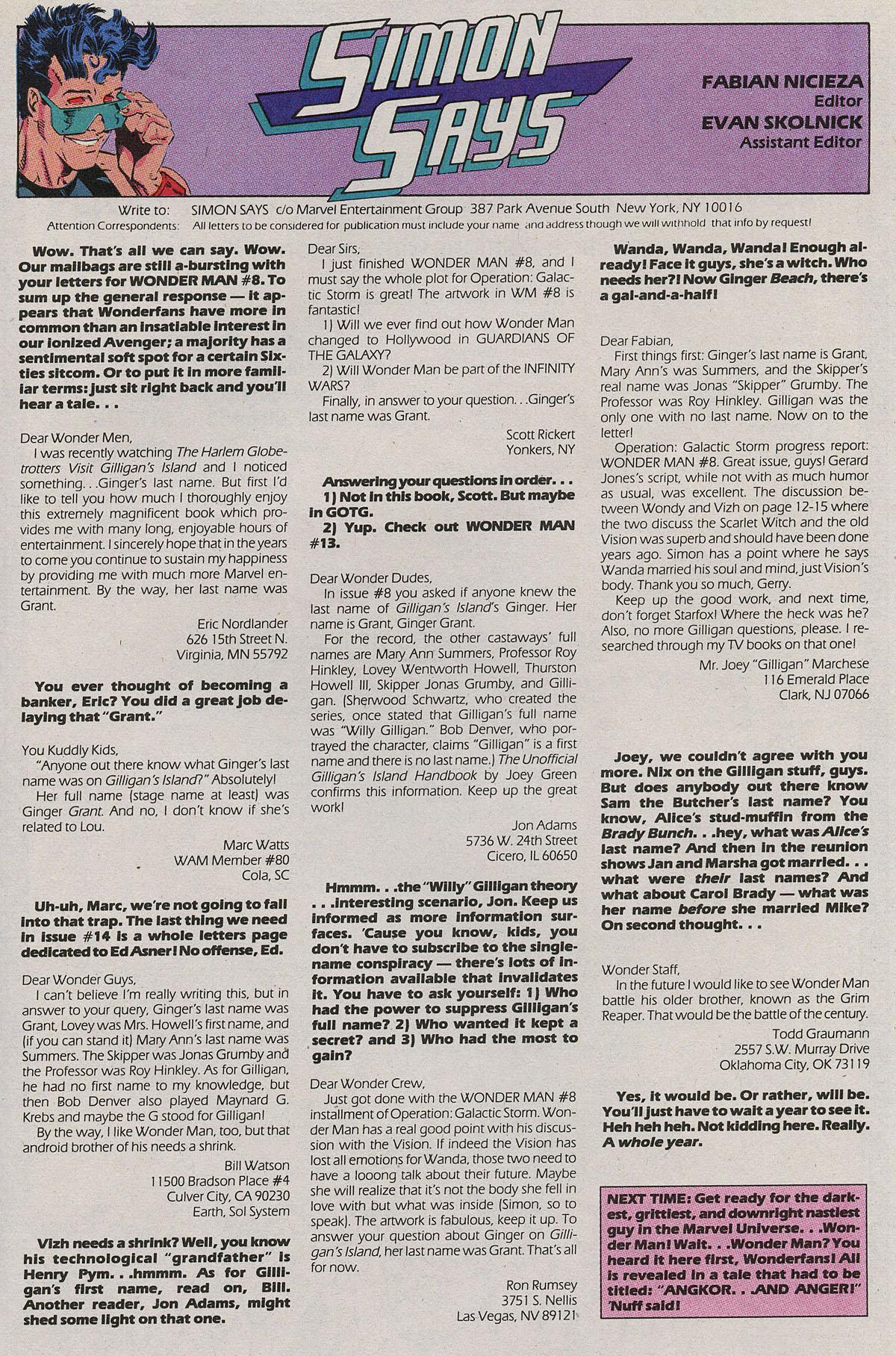 Read online Wonder Man (1991) comic -  Issue #11 - 23