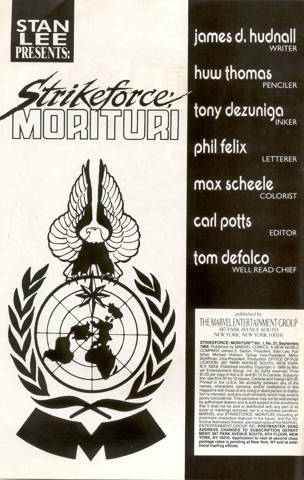 Strikeforce: Morituri 21 Page 2