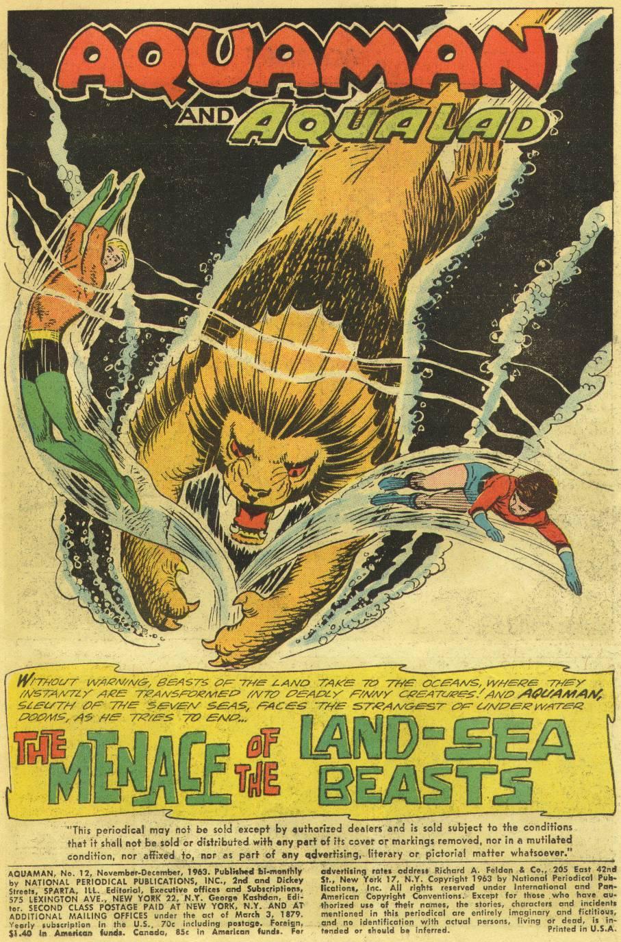 Read online Aquaman (1962) comic -  Issue #12 - 3