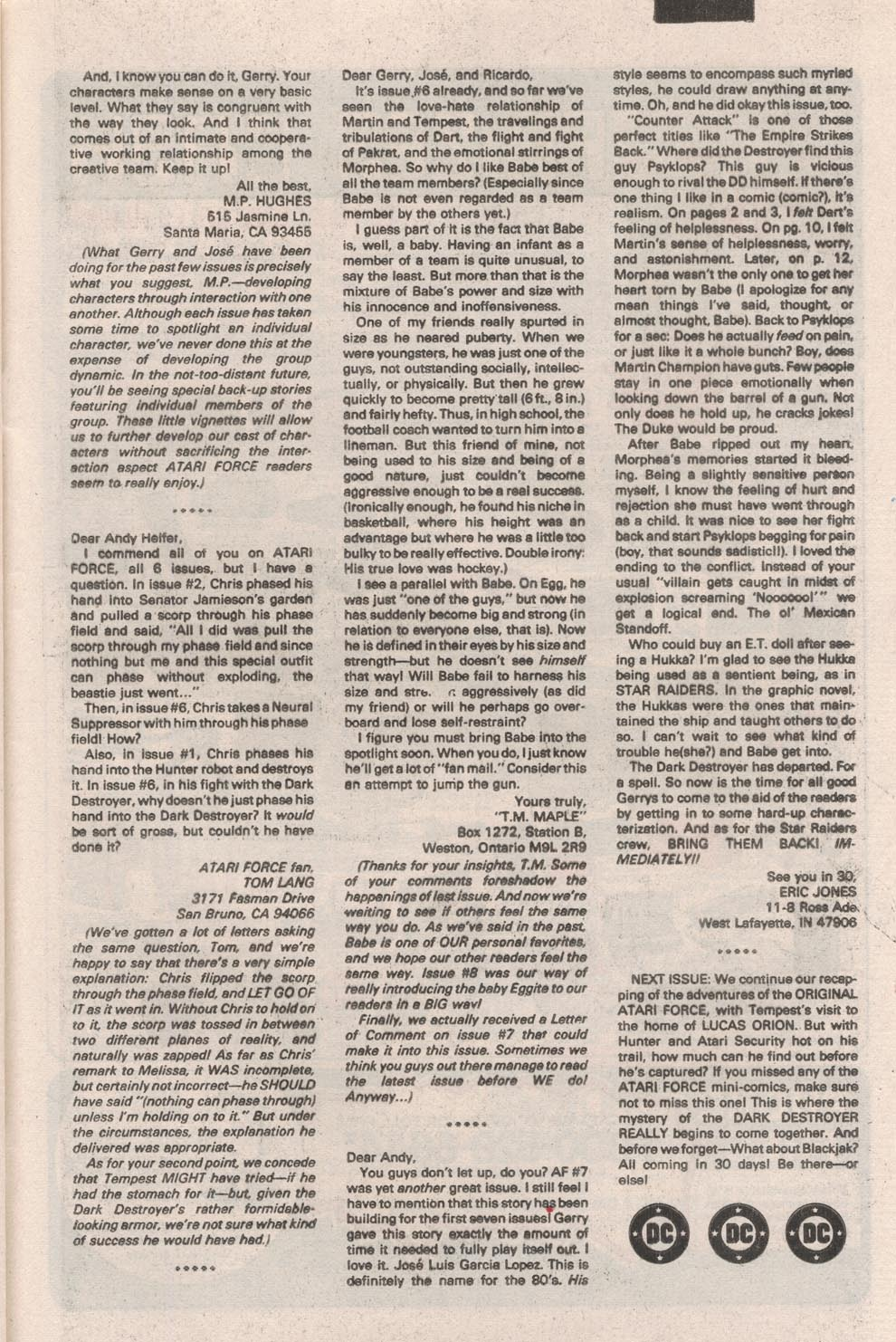 Read online Atari Force (1984) comic -  Issue #9 - 27