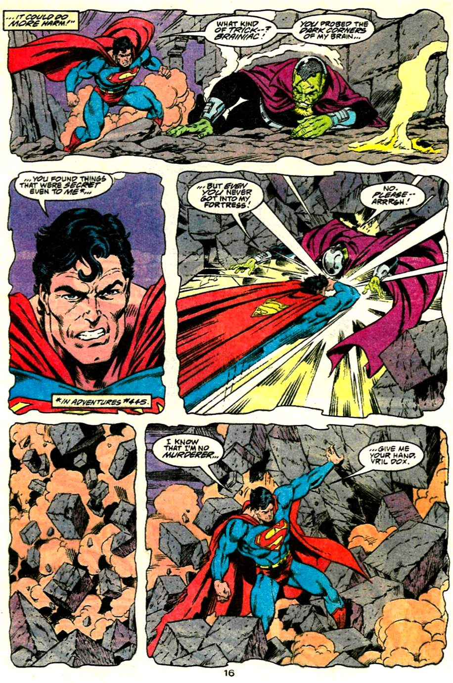 Read online Adventures of Superman (1987) comic -  Issue #485 - 17